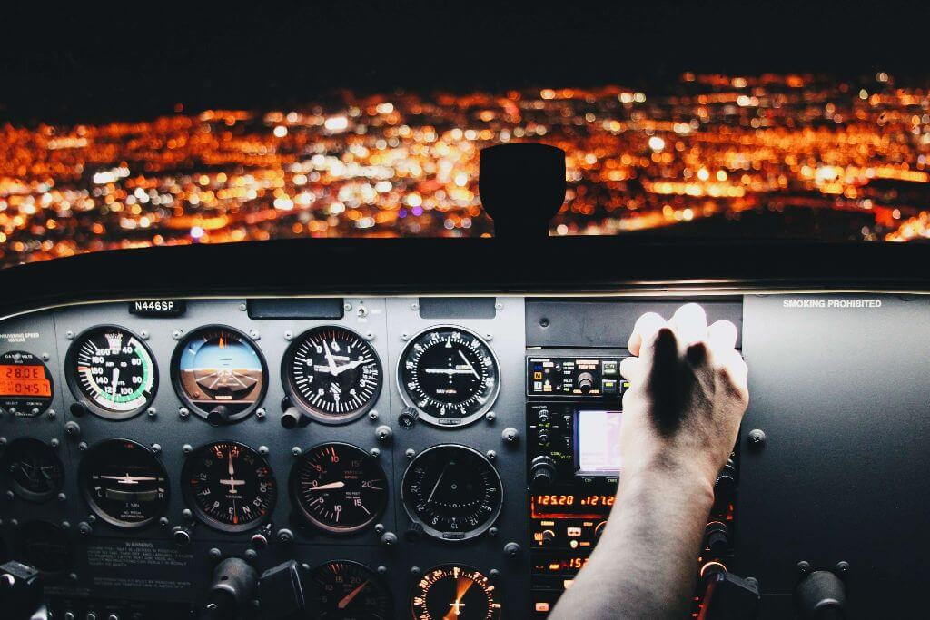 Cockpit City Night Lights